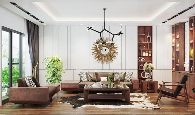 Căn nhà sang trọng, tinh tế nhờ sử dụng nội thất gỗ - Ảnh 1.