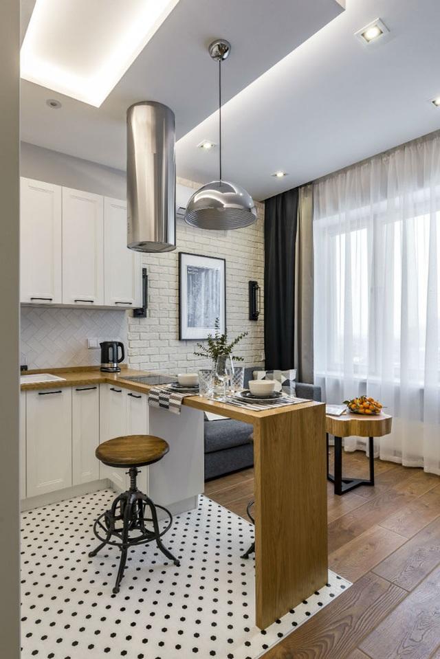 Vỏn vẹn 25m² nhưng căn hộ nhỏ với vẻ ngoài độc đáo vẫn khiến người xem mãn nhãn vì sự kết hợp siêu mượt mà - Ảnh 2.