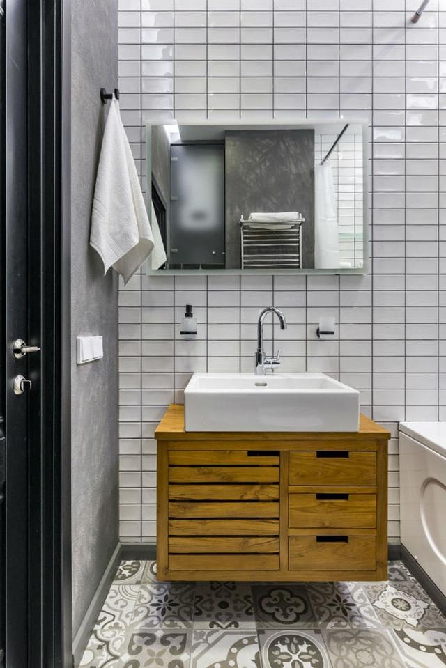 Vỏn vẹn 25m² nhưng căn hộ nhỏ với vẻ ngoài độc đáo vẫn khiến người xem mãn nhãn vì sự kết hợp siêu mượt mà - Ảnh 11.