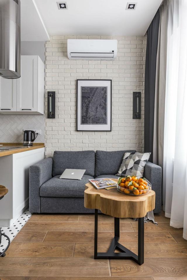 Vỏn vẹn 25m² nhưng căn hộ nhỏ với vẻ ngoài độc đáo vẫn khiến người xem mãn nhãn vì sự kết hợp siêu mượt mà - Ảnh 5.