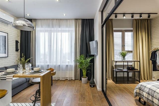 Vỏn vẹn 25m² nhưng căn hộ nhỏ với vẻ ngoài độc đáo vẫn khiến người xem mãn nhãn vì sự kết hợp siêu mượt mà - Ảnh 10.
