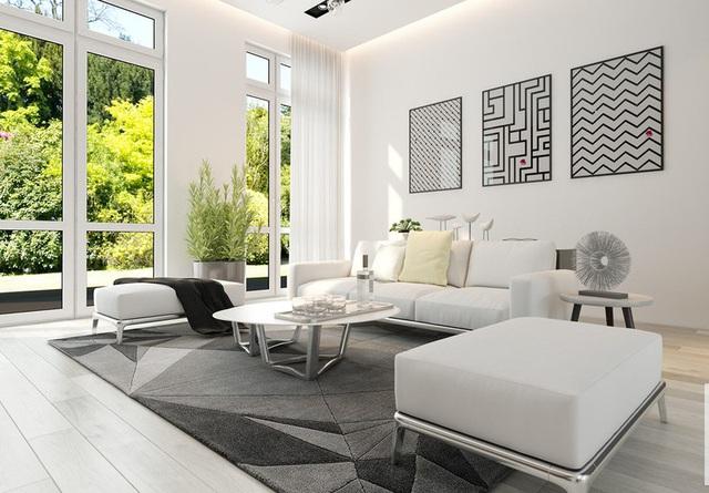 Sử dụng nội thất màu tương phản đen trắng đem lại hiệu ứng bất ngờ cho ngôi nhà phố - Ảnh 4.