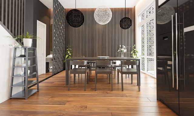 Sử dụng nội thất màu tương phản đen trắng đem lại hiệu ứng bất ngờ cho ngôi nhà phố - Ảnh 5.