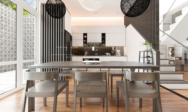 Sử dụng nội thất màu tương phản đen trắng đem lại hiệu ứng bất ngờ cho ngôi nhà phố - Ảnh 6.