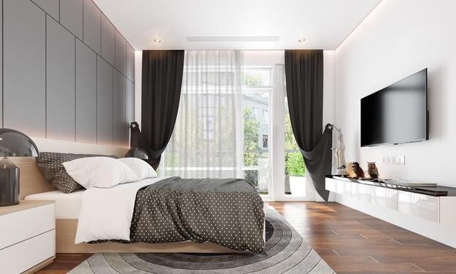 Sử dụng nội thất màu tương phản đen trắng đem lại hiệu ứng bất ngờ cho ngôi nhà phố - Ảnh 7.