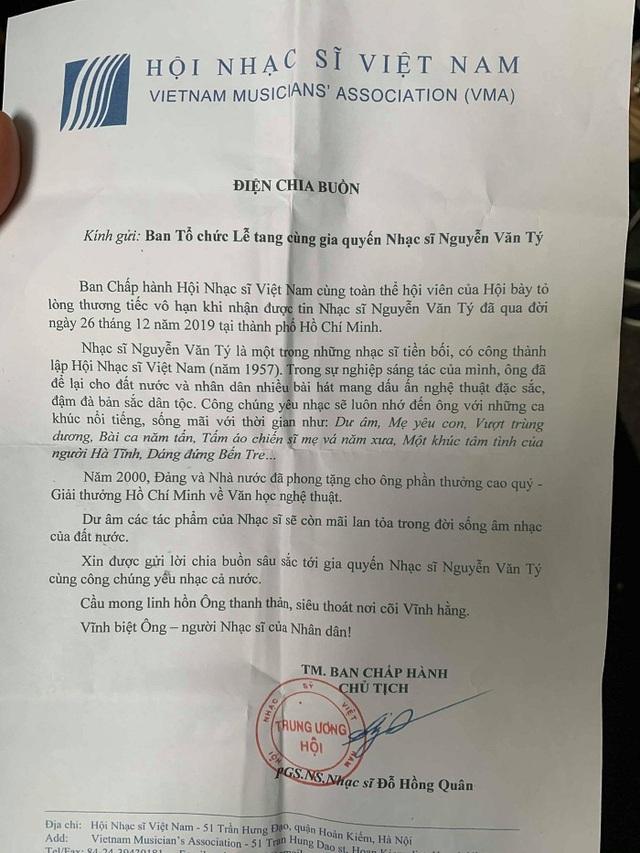 Phát Mẹ yêu con tiễn đưa nhạc sĩ Nguyễn Văn Tý - Ảnh 2.