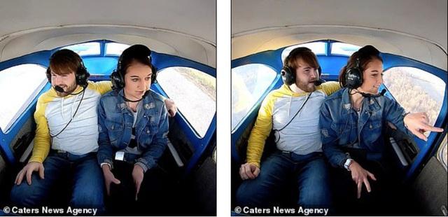 Thuê máy bay đưa bạn gái lên trời, chàng trai có màn cầu hôn siêu lãng mạn - Ảnh 1.