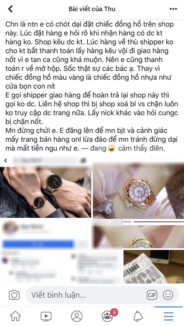 Đặt đồng hồ sang chảnh, nhận về đồng hồ nhựa, cô gái lên mạng than liền bị mắng - Ảnh 1.