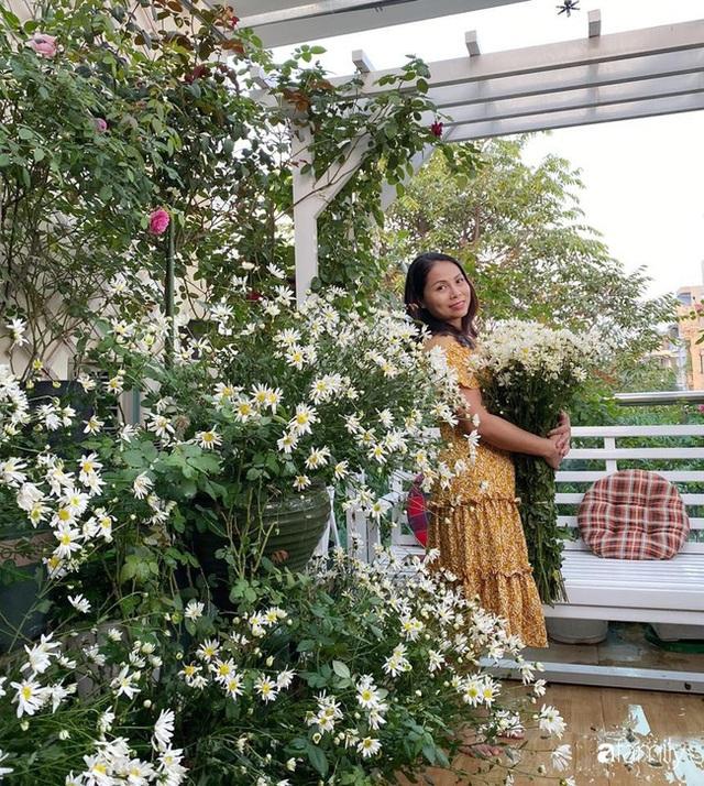 Ngắm triệu bông cúc họa mi khoe sắc dịu dàng, tinh khôi trên sân thượng của hai người phụ nữ dịu dàng - Ảnh 14.