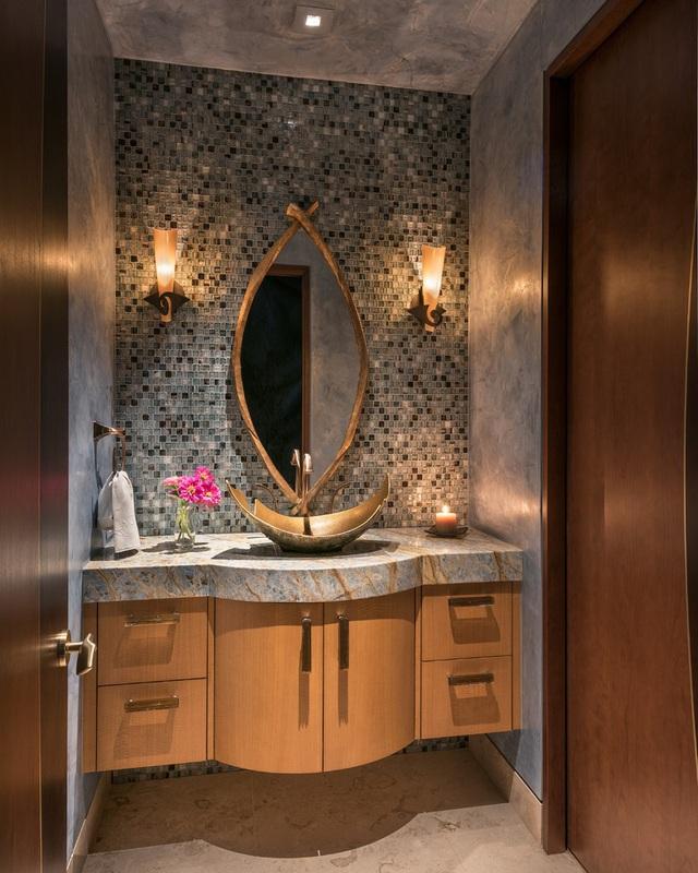 Những mẫu bồn rửa tay độc đáo cho phòng tắm gia đình thêm thu hút - Ảnh 17.