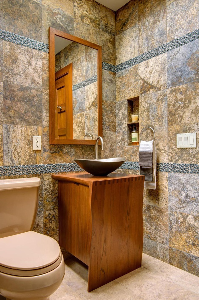 Những mẫu bồn rửa tay độc đáo cho phòng tắm gia đình thêm thu hút - Ảnh 19.