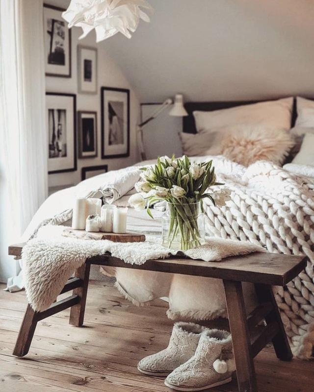 11 cách biến phòng ngủ thành không gian lãng mạn và siêu ấm áp khi đông về - Ảnh 6.