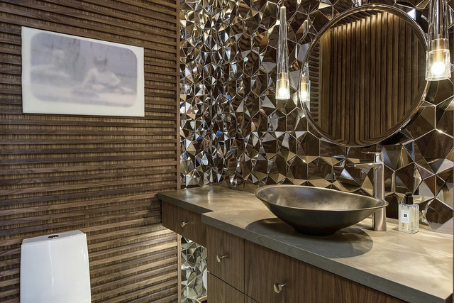 Những mẫu bồn rửa tay độc đáo cho phòng tắm gia đình thêm thu hút - Ảnh 9.