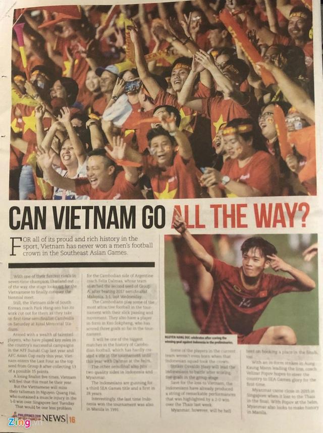 Báo Philippines: SEA Games 30 sẽ là thời của U22 Việt Nam - Ảnh 1.