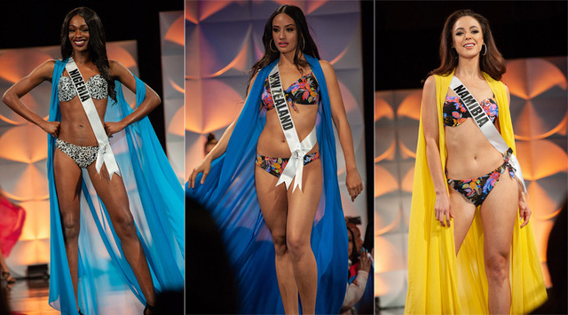 Hoàng Thùy đọ dáng với bikini bên các đối thủ Miss Universe - Ảnh 12.
