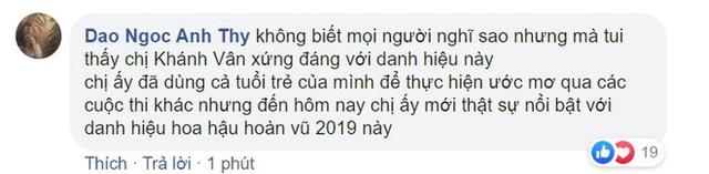 Khánh Vân gây tranh cãi khi là tân Hoa hậu Hoàn vũ Việt Nam  - Ảnh 3.