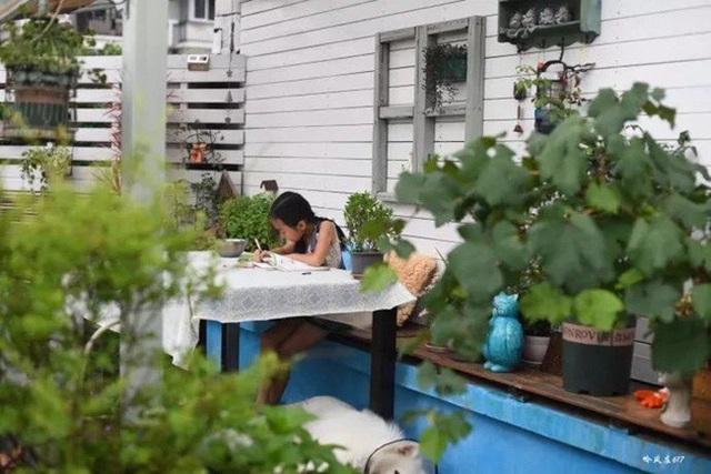 Biến sân thượng trống thành khu vườn đủ loại cây hoa đẹp như công viên, gia đình trẻ khiến nhiều người ghen tị - Ảnh 30.