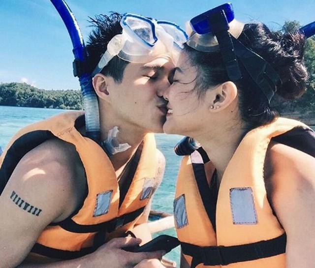 Janica và Franco trong một lần lặn biển ngắm san hô. Ảnh: Instagram.