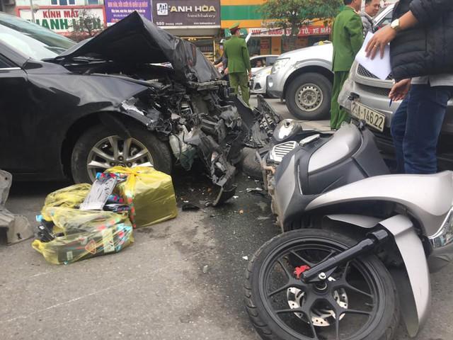 Hiện trường xảy ra vụ tai nạn giao thông tại đường Trường Chinh.