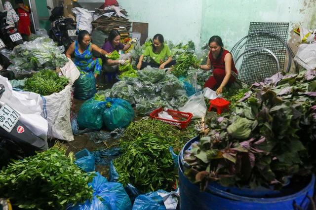 Các loại rau sống ăn kèm cá nướng như quế vị, dấp cá, tía tô, cần nước, húng... cũng được chuẩn bị trong đêm, đặt sẵn vào hàng trăm chiếc túi. Mỗi tiệm đều nhập từ vài trăm đến hơn tấn rau trong ngày vía Thần tài.