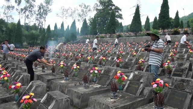 Nghĩa trang Vị Xuyên (Hà Giang), nơi yên nghỉ của hàng ngàn chiến sỹ anh dũng ngã xuống trong cuộc chiến vệ quốc 40 năm trước tại mặt trận biên giới phía Bắc. Ảnh: TL