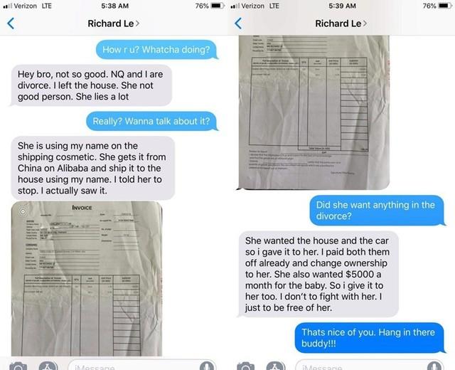 Loạt tin nhắn được cho là của bác sĩ Richard Lê với người bạn tố cáo về Ngọc Quyên