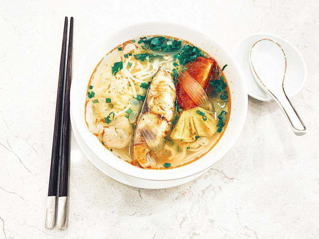Món bún cá sứa của Lan Khuê