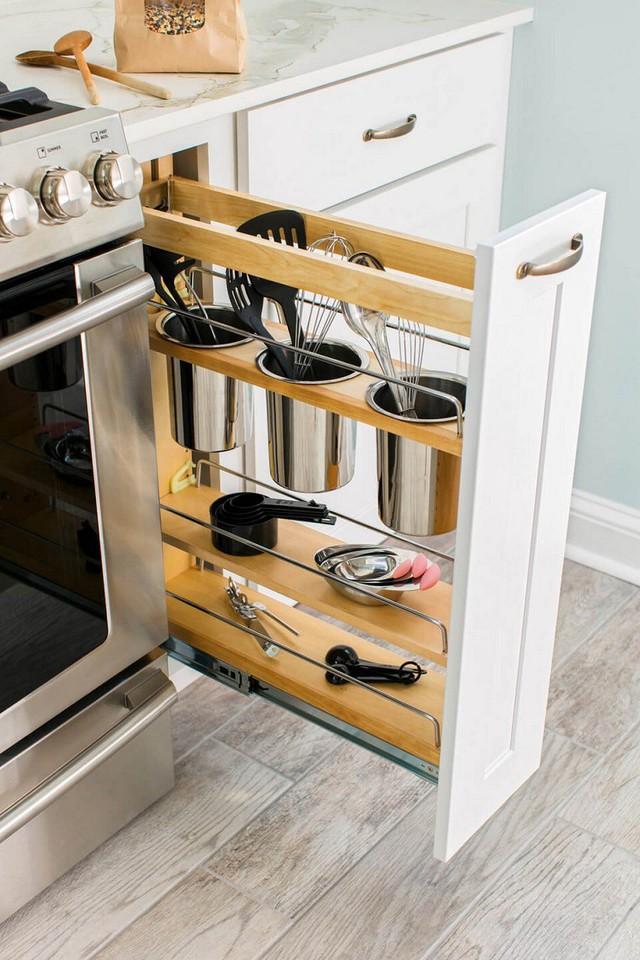 3. Hay một ngăn kép chìm tuy nhỏ nhưng giúp lưu trữ được nhiều đồ dụng gia dụng giúp chủ nhân.