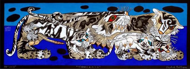 Con hổ trong tranh của họa sĩ Vũ Đình Tuấn