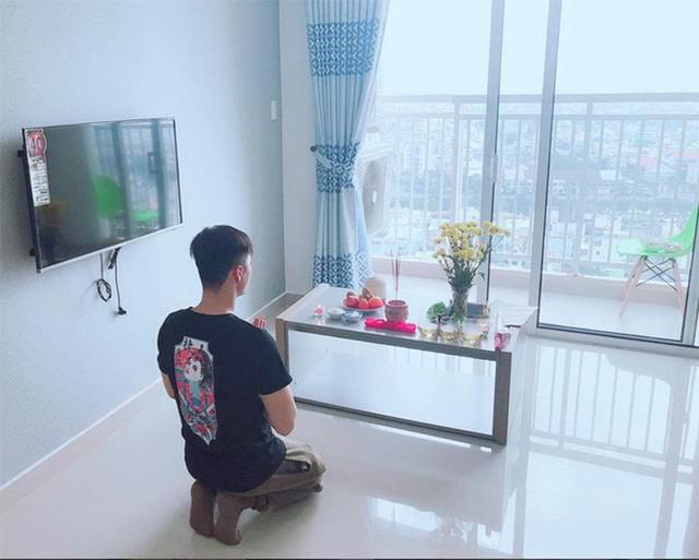 Linh Chi chia sẻ hình ảnh căn hộ khi Lâm Vinh Hải đang làm lễ nhập trạch.