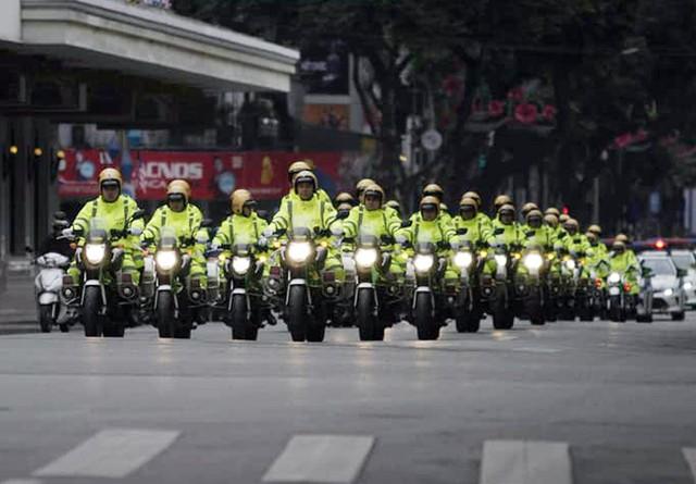 Trong sáng ngày 25/2, Công an Hà Nội đã làm lễ xuất quân đảm bảo an ninh, phục vụ cho Hội nghị thượng đỉnh Mỹ - Triều.