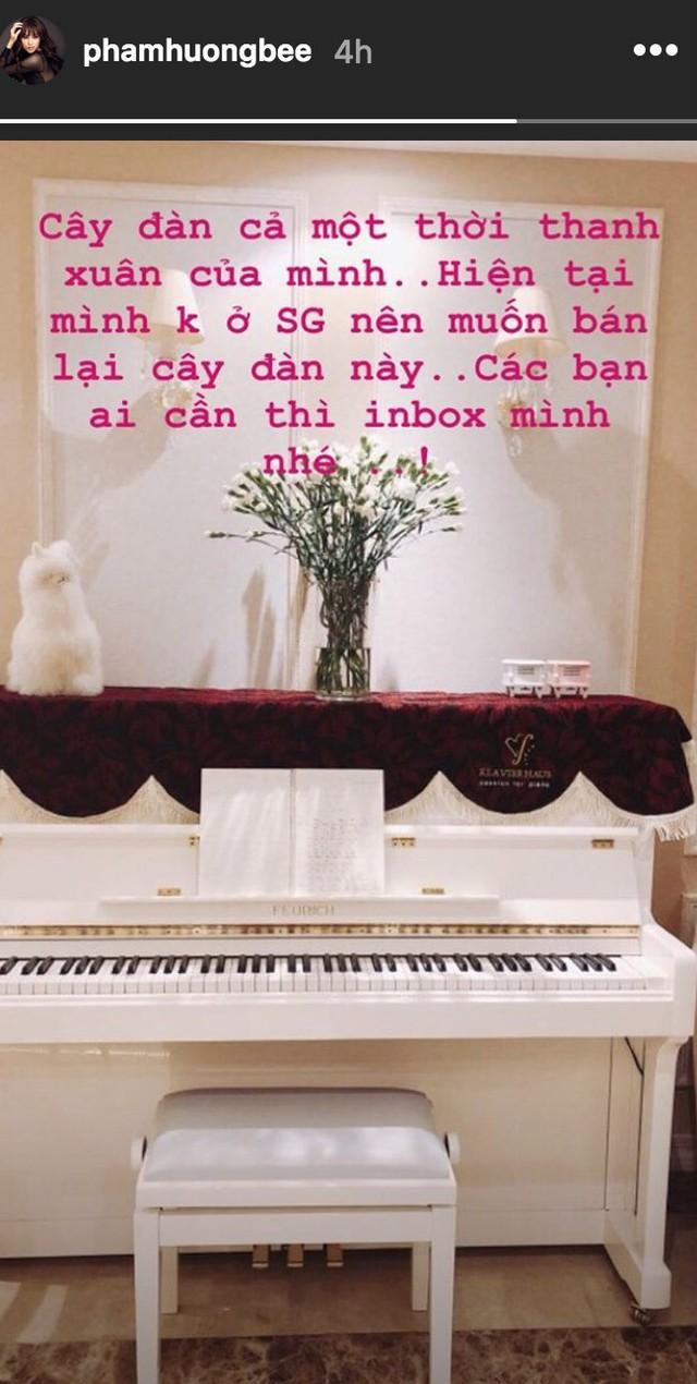 Phạm Hương bất ngờ rao bán cây đàn gắn với tuổi thanh xuân của mình ở căn hộ hiện tại tại Sài Gòn