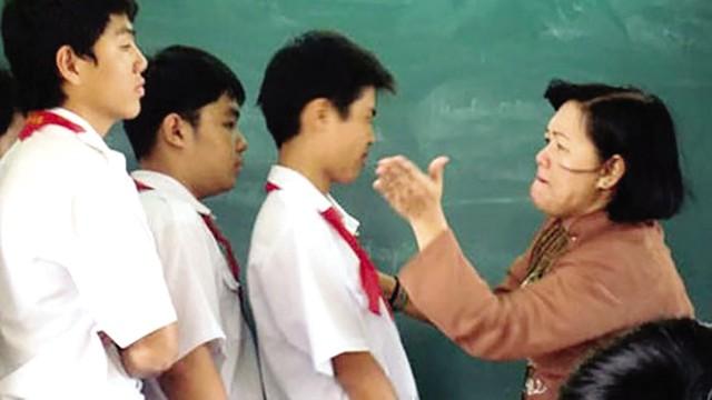 Dù ngành Giáo dục có nhiều biện pháp chấn chỉnh, song vẫn xảy ra tình trạng giáo viên đánh học sinh. Ảnh: TL