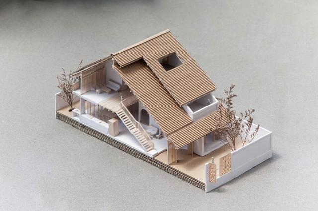 Mô hình 3D của nhà ngói.