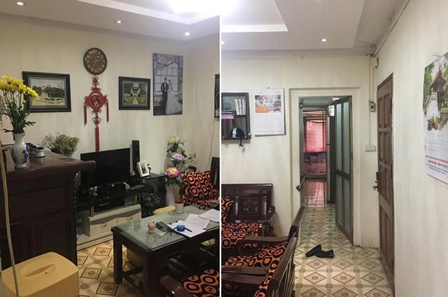 Căn hộ tập thể cũ ở khu Thanh Xuân Bắc, Hà Nội, rộng 75 m2, trước khi cải tạo khá tối và bí. Cách sắp xếp đồ, kê nội thất chưa phù hợp khiến nhà có cảm giác chật chội.