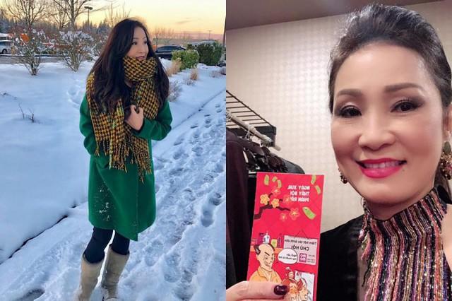 Dịp Tết hàng năm, hầu hết nghệ sĩ Việt tại hải ngoại tất bật với lịch diễn tại nhiều tiểu bang phục vụ bà con kiều bào. Ngày mùng 1 Tết, nghệ sĩ Hồng Đào khoe ảnh chụp giữa không gian tràn ngập tuyết và được nghệ sĩ Chí Tài lì xì khi đi diễn tại thành phố Seattle.
