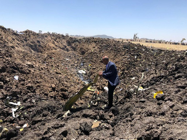 Máy bay Ethiopian Airlines bị rơi. Ảnh: Facebook