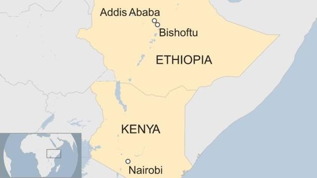Địa điểm xảy ra vụ tai nạn nằm cách Thủ đô Addis Ababa khoảng 60 km về phía nam. Đồ họa: BBC.