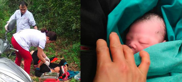Ca đỡ đẻ ở bìa rừng của Bệnh viện đa khoa Bắc Mê (Hà Giang) ngày 9/3
