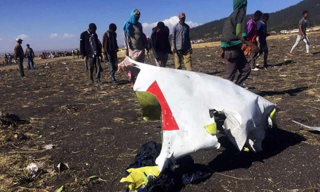 Toàn bộ 149 hành khách và phi hành đoàn 8 người có mặt trên chuyến bay ET302 của hãng hàng không Ethiopian Airlines được xác nhận đã thiệt mạng. Ảnh: Sky News.