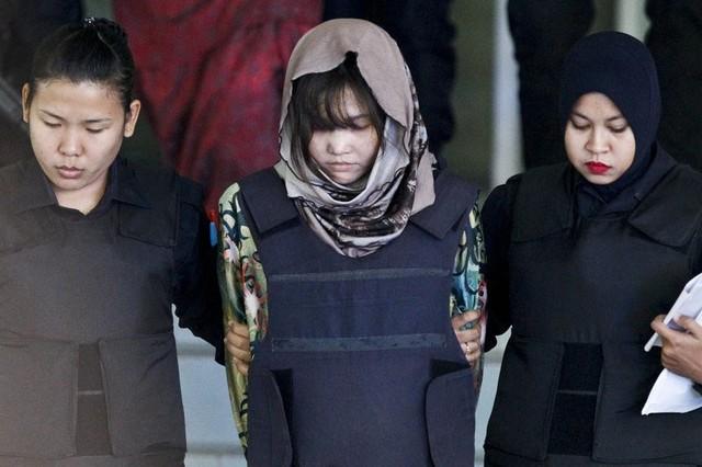 Đoàn Thị Hương giờ đây trở thành nghi phạm duy nhất trong vụ ám sát Kim Jong Nam còn bị Malaysia giam giữ và xét xử. Ảnh: AP.