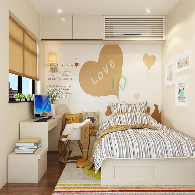 Phòng ngủ của con được thiết kế độc đáo, phù hợp lứa tuổi.