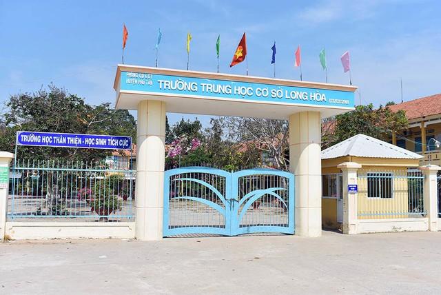 Trường THCS Long Hòa, nơi xảy ra vụ việc
