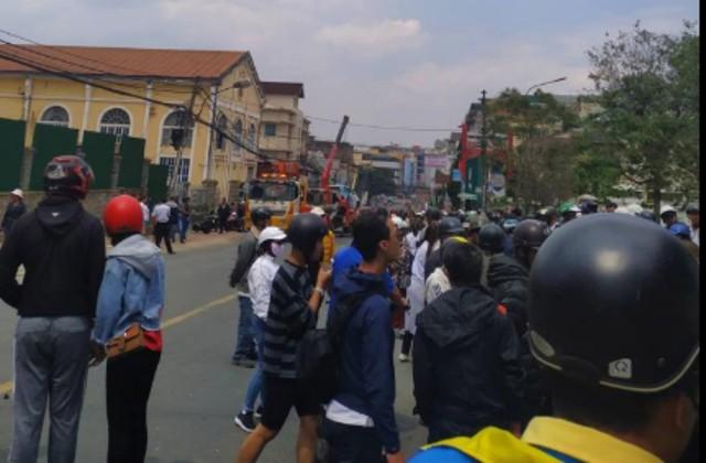 Vụ tai nạn xảy ra trên đường 3/2 ở trung tâm TP Đà Lạt khiến nhiều người bị thương