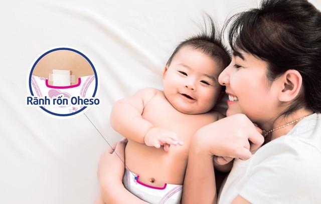 Tã có thiết kế rãnh rốn Oheso giúp mẹ bảo vệ con từ những điều nhỏ nhất!