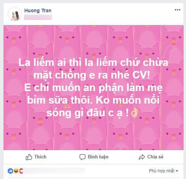 Hương Trần công khai dằn mặt Quế Vân trên trang cá nhân