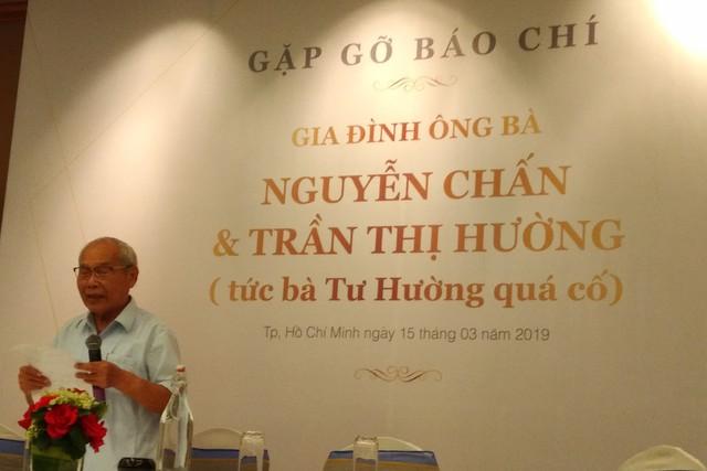 Ông Nguyễn Chấn tại buổi gặp gỡ báo chí. (ảnh: HC)