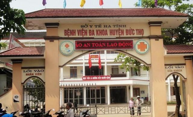 Bệnh viện đa khoa huyện Đức Thọ nơi ông Lý công tác.
