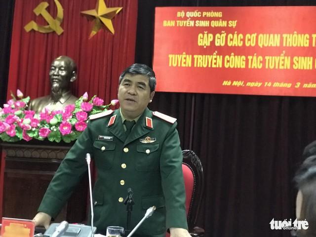 Trung tướng Trần Hữu Phúc - Cục trưởng Cục Nhà trường - Ảnh: NGỌC HÀ