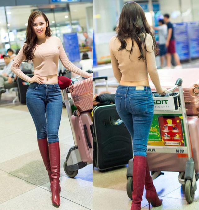 Thanh Trang hạn chế mặc quần jean vì số đo vòng 3 lớn cả mét